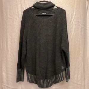 Oxygen knit sweater with neat neck line